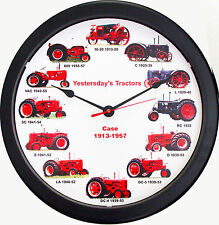 New RC CASE 1913-1957 Tractor Wheel Dial Clock 12 Vintage Tractors Massive 14""