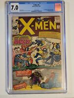 X-Men 9 CGC 7.0 OW/W 1965 Stan LEE Jack Kirby 1st X/Avengers x-over 1st Lucifer