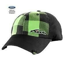 FORD FIESTA GREEN BUFFALO PLAD BASEBALL STYLE HAT CAP NEW UNIQUE FACTORY OEM HAT