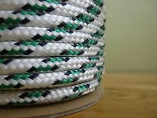 """5/16"""" x 100 ft. Double Braid~Yacht Braid polyester rope. Valsail Sailboat Line."""