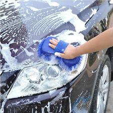 Blue Microfiber Chenille Car Vehicle Care Washing Brush Sponge Pad Cleaning Tool
