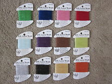 12  Rainbow Gallery Silk Lame' Braid Needlepoint/ Embroidery Thread  For 13 ct.