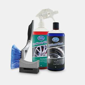 Greased Lightning WHEEL PACK Wheel Cleaner & Tyre Dressing with Wheel brush 1L