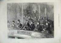 Original Old Antique Print Queen German Empress Royal Albert Hall 1872 Theatre