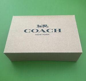 "Coach Gift Box 6.5"" X 4.5 X 2"" Small Cute Brown Box NEW"