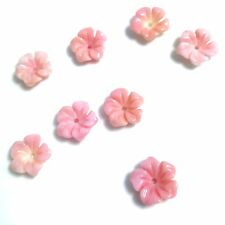 2 PC Natural Pink Queen Conch Shell Flower 12mm -New DIY Bead Design Wholesale