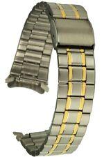 Acciaio Inossidabile Cinturino Bicolore circa porta 18 mm RICAMBIO NASTRO Uhrband