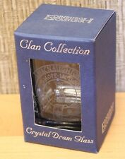 "Vintage Edinburgh Castle Crystal Dram Glass, Shot Glass, ""Hope In God"", New"