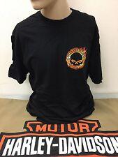 Harley-Davidson Men's Short sleeve XL black willie G fire skull shirt NWT's