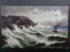Channel Islands: SARK Rough Sea off The Harbour by Raphael Tuck & Sons 1497