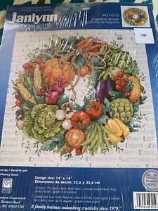Janlynn Counted Cross Stitch Vegetable Wreath by Nancy Rossi Thanksgiving