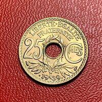 #3661 - RARE - 25 centimes .1939. FDC sortie de rouleau - FACTURE