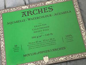 """Arches 140 lb. Watercolor Paper Blocks - Cold Press, 12x16""""  - 140 Lb. Cold"""