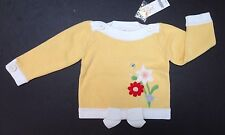 NWT Gymboree Wish You Were Here 18-24 Months Yellow Embroidered Flower Sweater