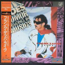 Japan Laserdisc Frank Zappa Dous Humor Belong In Music W/Obi NTSC