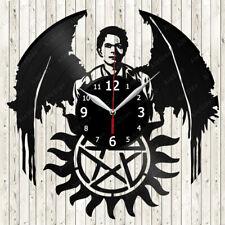 Supernatural Vinyl Record Wall Clock Decor Handmade 2160