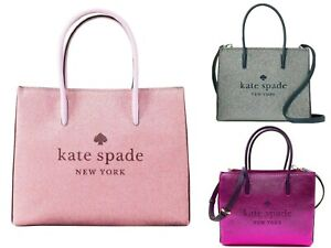 Kate Spade Trista Glitter Shopper Tote Satchel Crossbody