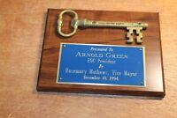 Vtg 1994 Key To The City Monroe GA Vice Mayor Rosemary Mathews to Arnold Green