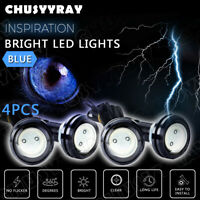 4Pc Ice blue DC 12V Eagle Eye LED Daytime Running DRL Backup Light Car Rock Lamp