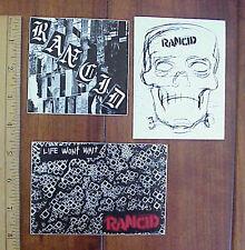 Rancid Punk Rock Music Group Three (3) Vinyl Stickers