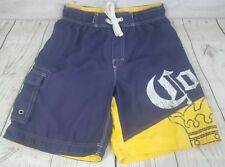0a53a1f284 Corona Extra Board Shorts Sz Medium (32) Men Blue Yellow Swim Trunk