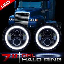 2x 7inch Round LED Headlights Projector Headlamp For FREIGHTLINER Century Class