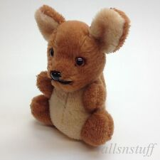 """VTG Kangaroo Tongue Out Plush Mustache 8"""" Mini Stuff Toy 70s RARE Teddy Bear"""
