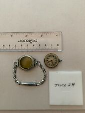 Ladis Antique Wrist Watch White Rolled Gold Works Poor Cond.