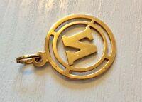 Nice Vintage 14 Carat Gold Initial Letter ( N ) Pendant 14CT Gold