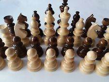 Huge chess piece set new handspindled special design brown big King 4.72 in