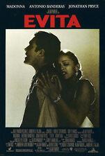 "Movie Poster~Evita Madonna Antonio Banderas 1996 Film Print 27x40"" Nos Rare~"