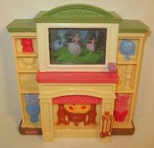 "2006 Music & Light-Up TV & Fireplace 6"" Loving Family Dollhouse Furniture"