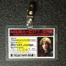 Dredd ID Badge-Street Judge Cassandra Anderson  prop costume cosplay