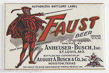 Faust Beer FRIDGE MAGNET (2.5 x 3.5 inches) label ale lager devil alcohol sign