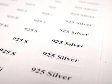 925 Silver Tickets for Jewellery Displays Self-adhesive