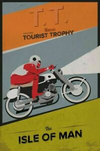 1959 Isle of Man TT motorbike race LARGE METAL VINTAGE STYLE TIN SIGN RETRO
