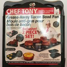 Chef Tony 2 Pack Grease away Bacon Bowl Pans ~ NEW