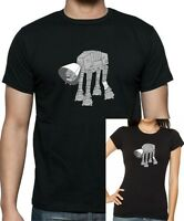 STAR WARS AT-AT Cone of Shame T-Shirt. Unisex or Women's Fitted Tee Printed