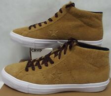 New Mens 10.5 Converse One Star Pro Mid Antiqued Suede Leather Shoes $80 153476C