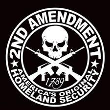 2ND AMENDMENT GUN Car Sticker Truck SUV Hunting Decor White Vinyl Decal Exterior
