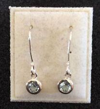 Silver Topaz Fine Gemstone Earrings