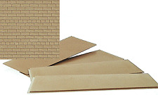 "Walthers # 3524 Brick Sheet - 4 x 9-3/4"" Cream pkg(4) Mib"