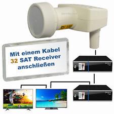 Inverto Unicable II LNB für max. 32 Teilnehmer | SAT-Receiver mit 1 Kabel 4K HD