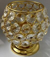 Golden Color Crystal Decorative Lamp Light Candle Holder Tea Lights looks WOW