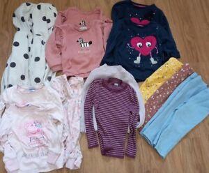 Twin Girls 2-3 Autumn Winter Clothes Bundle. Jumpers pyjamas leggings fleeces