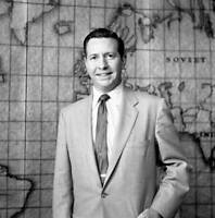 OLD CBS TV RADIO PHOTO Television Newscast Douglas Edwards With The News 1954 2
