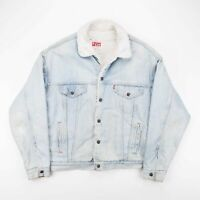 Vintage LEVI'S  Blue 80s Cotton Casual Denim Jacket Mens L