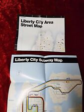 Liberty City Street Map and Subway Map from Grand Theft Auto