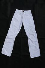 ENERGIE Sixty Trousers Women/Mens Pants White Bootcut leg Cotton W27 uk10
