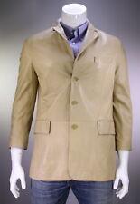 * RALPH LAUREN * Purple Label Camel Color Lambskin Leather Blazer Jacket 40S